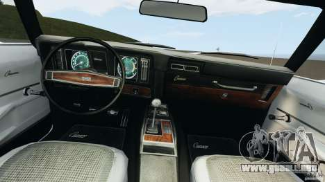 Chevrolet Camaro SS 350 1969 para GTA 4 vista hacia atrás