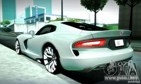 Dodge Viper SRT  GTS para vista lateral GTA San Andreas