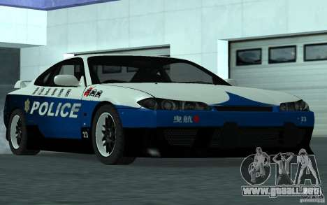 Nissan Silvia S15 Police para la visión correcta GTA San Andreas