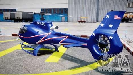 Eurocopter EC130B4 NYC HeliTours REAL para GTA 4 Vista posterior izquierda