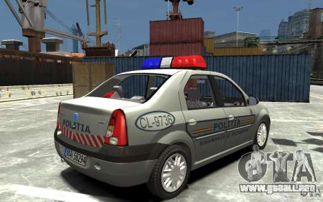 Dacia Logan Prestige Politie para GTA 4 visión correcta