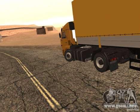 KamAZ 5460 camioneros 2 para GTA San Andreas vista posterior izquierda