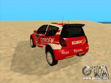 Citroen Rally Car para la visión correcta GTA San Andreas