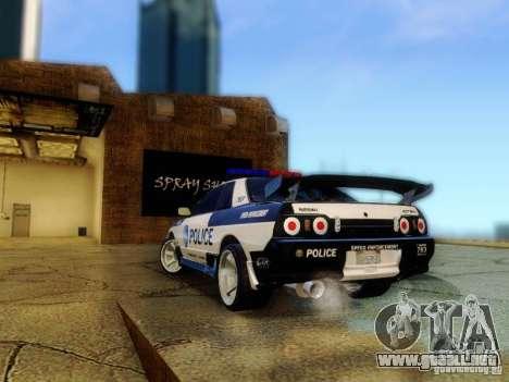 Nissan Skyline R32 Police para GTA San Andreas left