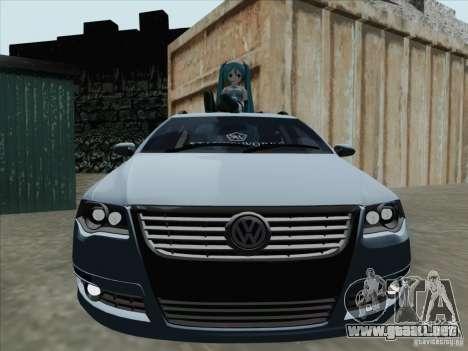 Volkswagen Passat B6 Variant Stance 2007 para GTA San Andreas left