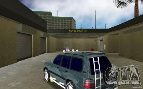 Toyota Land Cruiser 100 para GTA Vice City vista lateral izquierdo