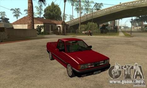 VW Saveiro GL 1989 para GTA San Andreas vista hacia atrás
