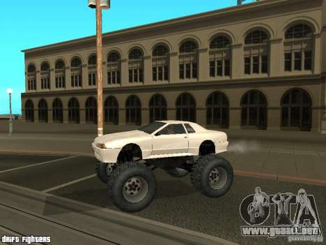 Elegy Monster para GTA San Andreas vista posterior izquierda