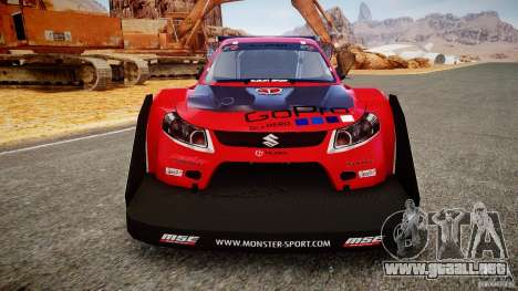 Suzuki Monster SX4 para GTA 4 vista hacia atrás