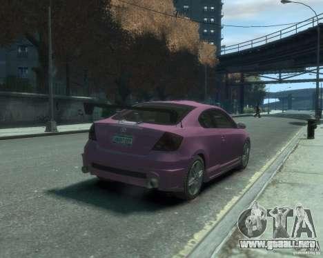 Toyota Scion Tc 2.4 para GTA 4 visión correcta