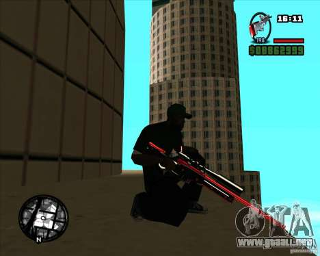 Chrome black red gun pack para GTA San Andreas