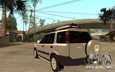 Honda CRV 1997 para GTA San Andreas vista posterior izquierda