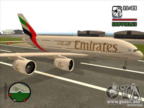 Boeing Emirates Airlines para GTA San Andreas