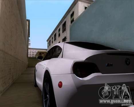 BMW Z4 M Coupe para vista lateral GTA San Andreas