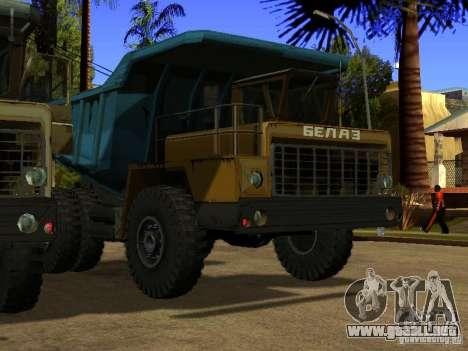 BELAZ 540 para GTA San Andreas left