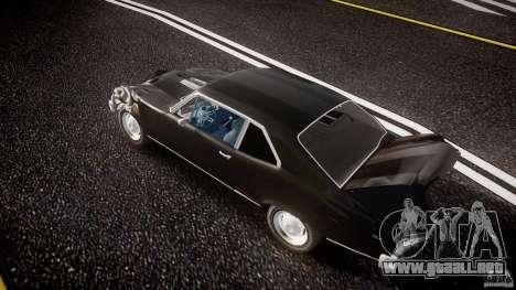 Chevrolet Nova 1969 para GTA 4 vista desde abajo
