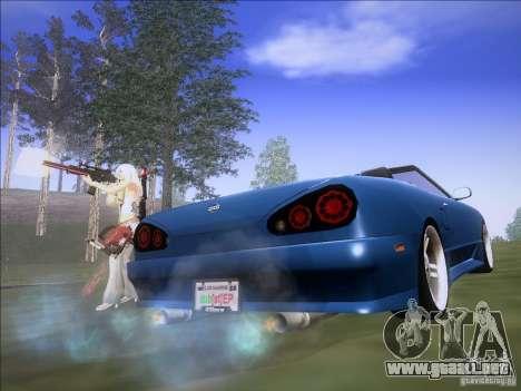 Elegy Cabrio Edition para GTA San Andreas vista posterior izquierda