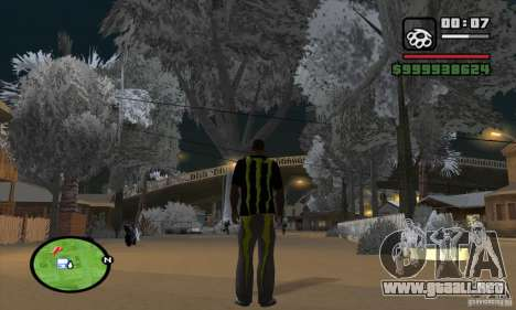 Monster energy suit pack para GTA San Andreas segunda pantalla
