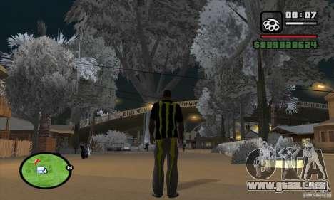 Monster energy suit pack para GTA San Andreas segunda pantalla