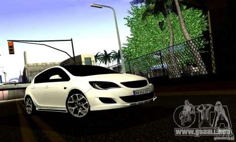 Opel Astra Senner para visión interna GTA San Andreas
