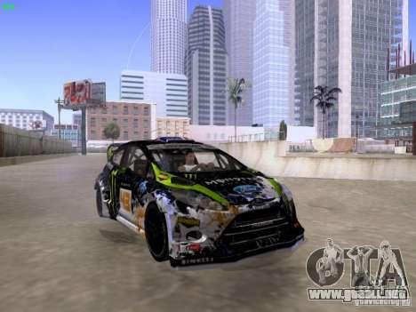Ken Block Ford Fiesta 2012 para la visión correcta GTA San Andreas
