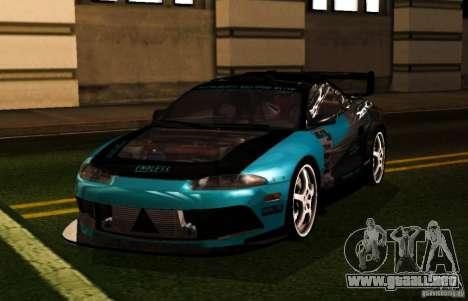 Mitsubishi Eclipse Elite para la visión correcta GTA San Andreas