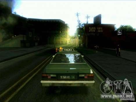 Un taxi desde dri3r para GTA San Andreas vista posterior izquierda
