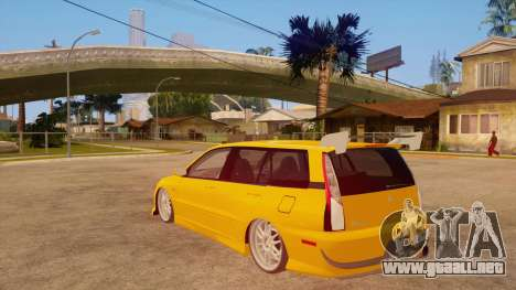 Mitsubishi Lancer Evolution IX Wagon MR Drift para GTA San Andreas vista posterior izquierda