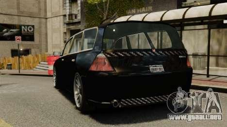 Honda Odyssey para GTA 4 Vista posterior izquierda