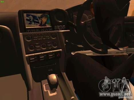 Nissan GT-R SpecV Black Revel para vista lateral GTA San Andreas
