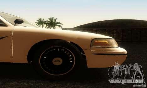 Ford Crown Victoria Washington Police para la visión correcta GTA San Andreas