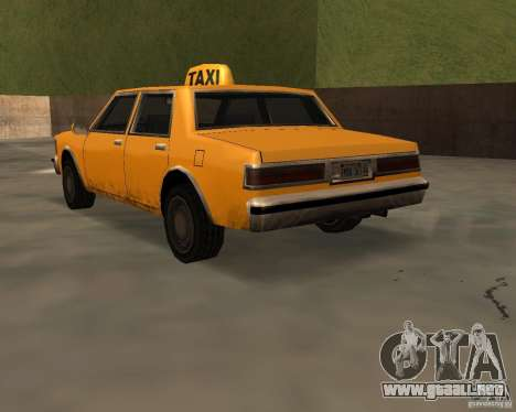 LV Taxi para GTA San Andreas left