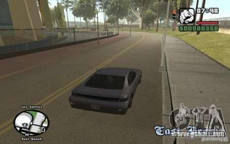 Nombres de las calles en el radar para GTA San Andreas sucesivamente de pantalla