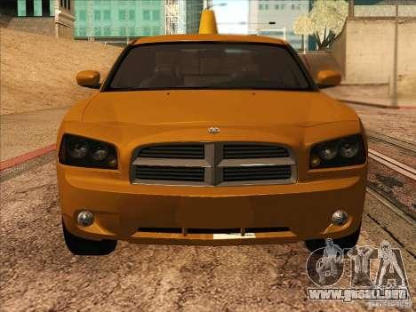 Dodge Charger STR8 Taxi para GTA San Andreas vista hacia atrás