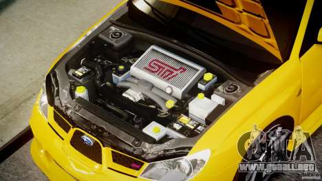 Subaru Impreza STI para GTA 4 visión correcta