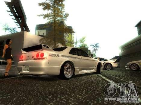 Nissan Skyline Nismo 400R para GTA San Andreas vista posterior izquierda