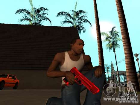 Red Chrome Weapon Pack para GTA San Andreas quinta pantalla