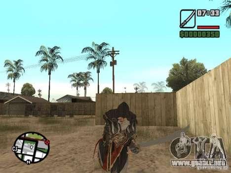 Espada Ezio para GTA San Andreas sucesivamente de pantalla
