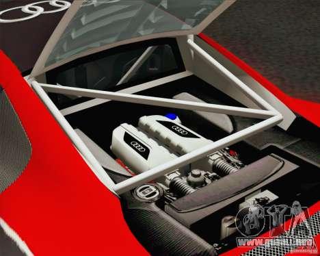 Audi R8 LMS v2.0.1 para la vista superior GTA San Andreas