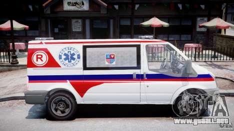 Ford Transit Polish Ambulance [ELS] para GTA 4 vista hacia atrás