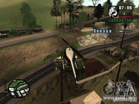 Poner armas en cualquier máquina para GTA San Andreas tercera pantalla