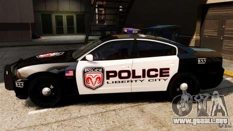 Dodge Charger RT Max Police 2011 [ELS] para GTA 4 left