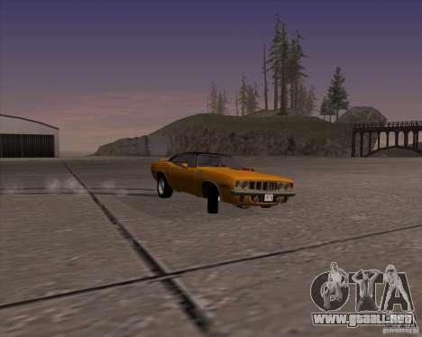 Plymouth Barracuda para GTA San Andreas vista hacia atrás