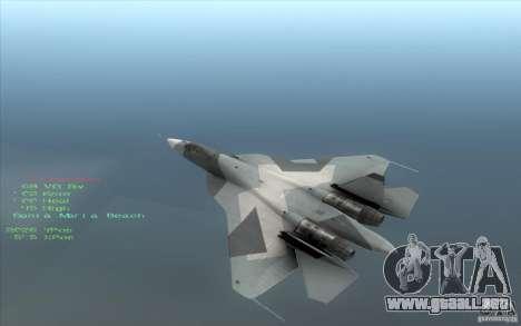 SU t-50 Pak FA para GTA San Andreas left