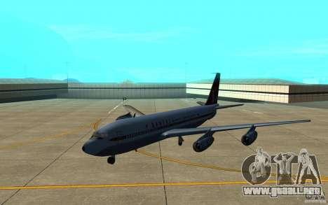 Qantas 707B para GTA San Andreas left