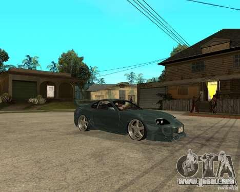 Toyota Supra Veilside para la visión correcta GTA San Andreas