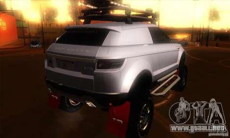 Land Rover Evoque para la visión correcta GTA San Andreas