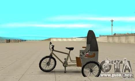 Manual Rickshaw v2 Skin1 para GTA San Andreas left