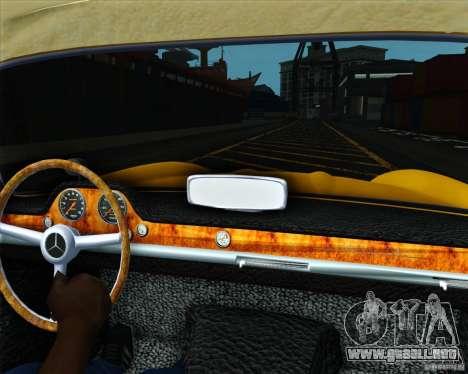 Mercedes Benz 300SL para GTA San Andreas vista posterior izquierda