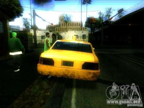 Sunrise Taxi para GTA San Andreas vista posterior izquierda